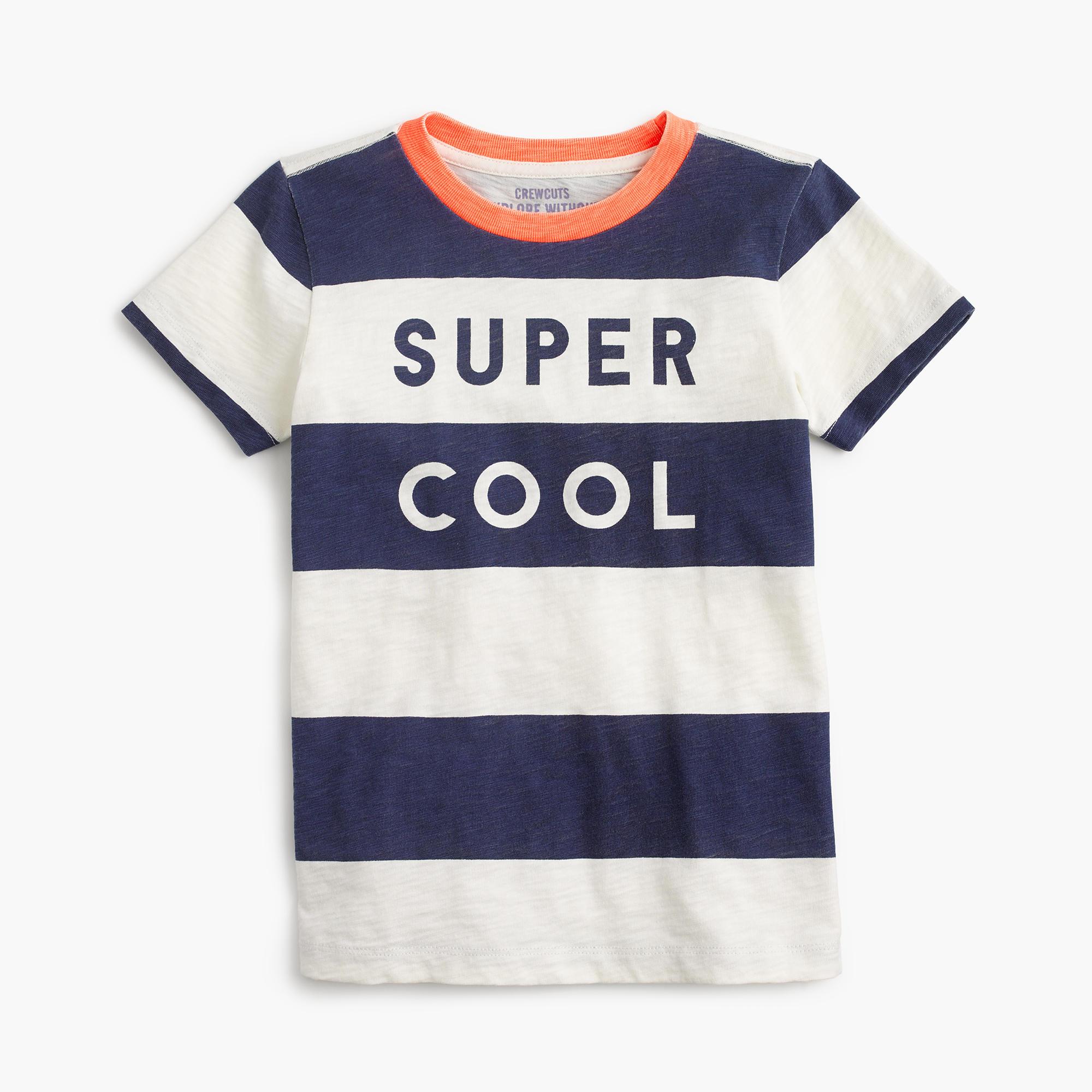 Boys Quot Super Cool Quot Striped T Shirt Boy Stripes Amp Novelty J Crew