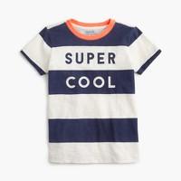 "Boys' ""super cool"" striped T-shirt"
