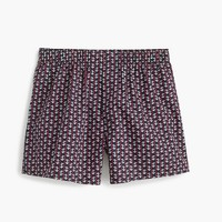 Striped anchor print boxers