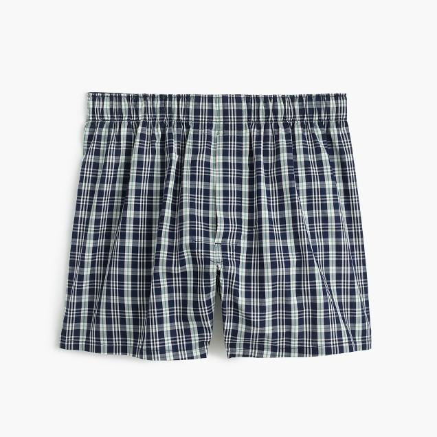 Navy plaid boxers
