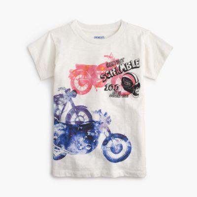 Boys' watercolor motorcycle T-shirt