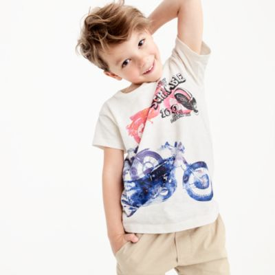 Boys' watercolor motorcycle T-shirt