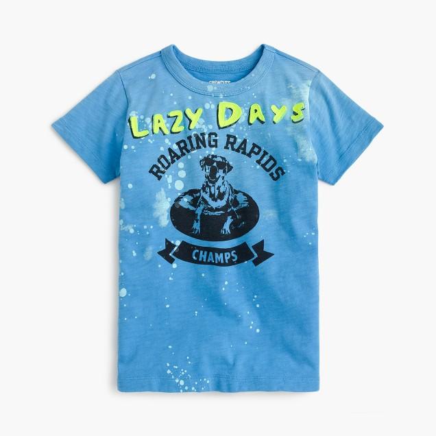 Boys' lazy days tubing T-shirt