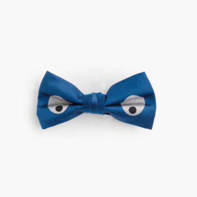 Boys' silk bow tie in eye print