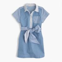 Girls' tie-waist dress in mash-up