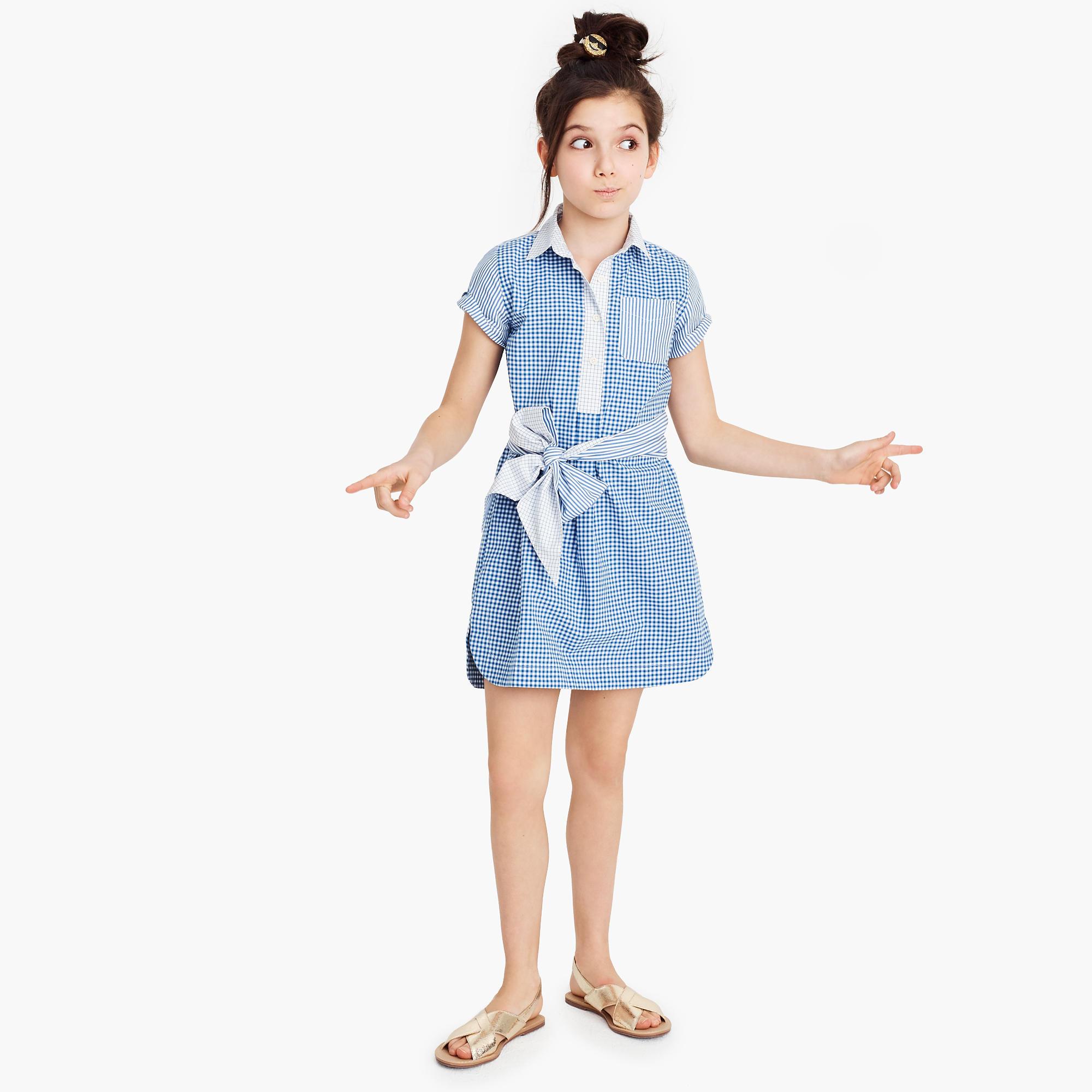 Christmas dress attire for age 57 - Girls Tie Waist Dress In Mash Up