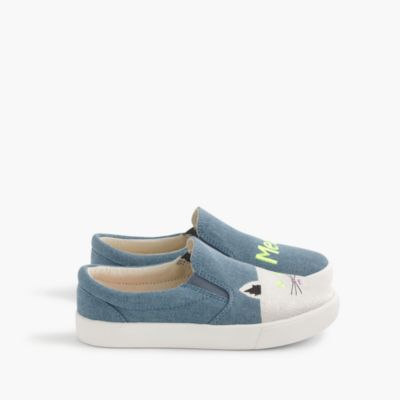 Girls' meow slide sneakers