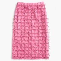 Collection embellished satin skirt