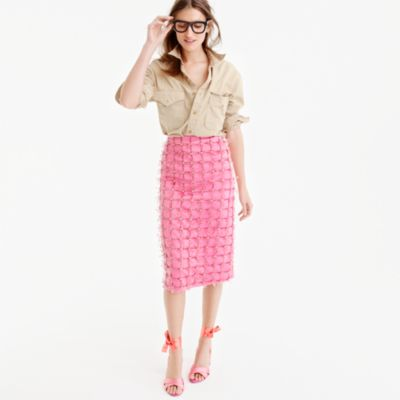 Collection embellished satin skirt