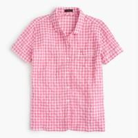 Gingham pajama top