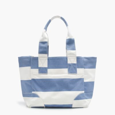 Striped vintage canvas tote
