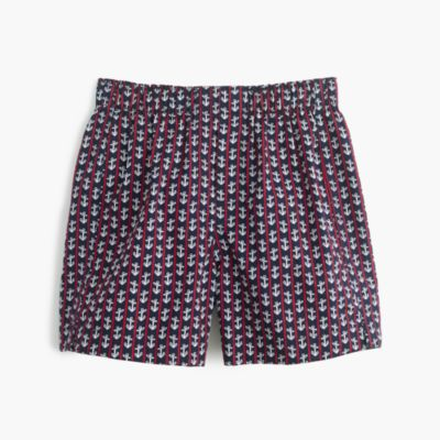 Boys' striped anchor boxers