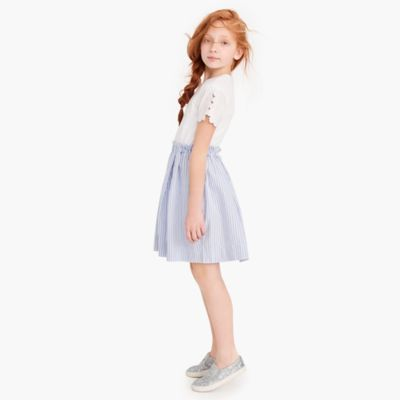 Girls' eyelet-sleeve dress