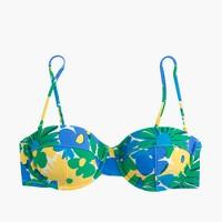 Underwire bikini top in morning floral