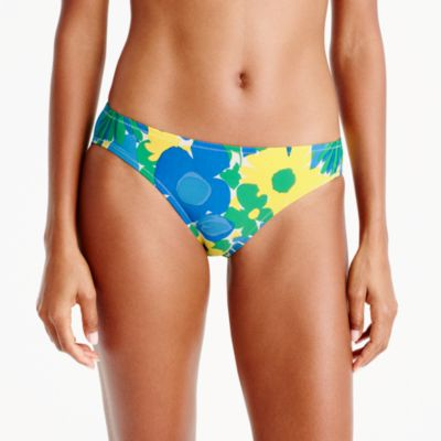 Bikini bottom in morning floral