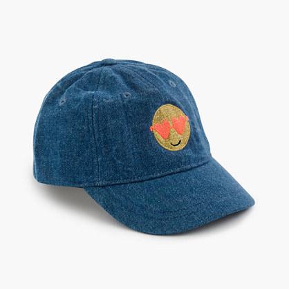 Kids' emoji baseball cap