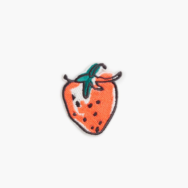 Kids' strawberry iron-on critter patch