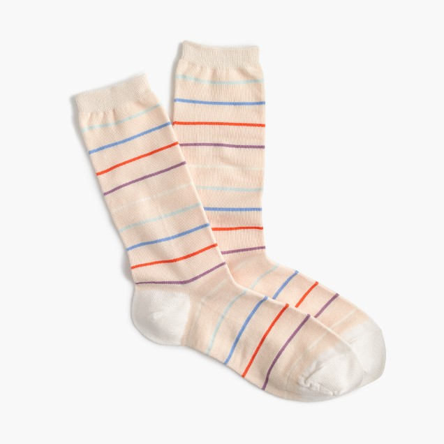Skinny striped trouser socks