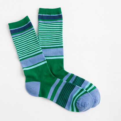 Trouser socks in mixed stripe