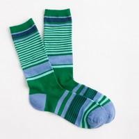 Trouser socks in mixed stripe