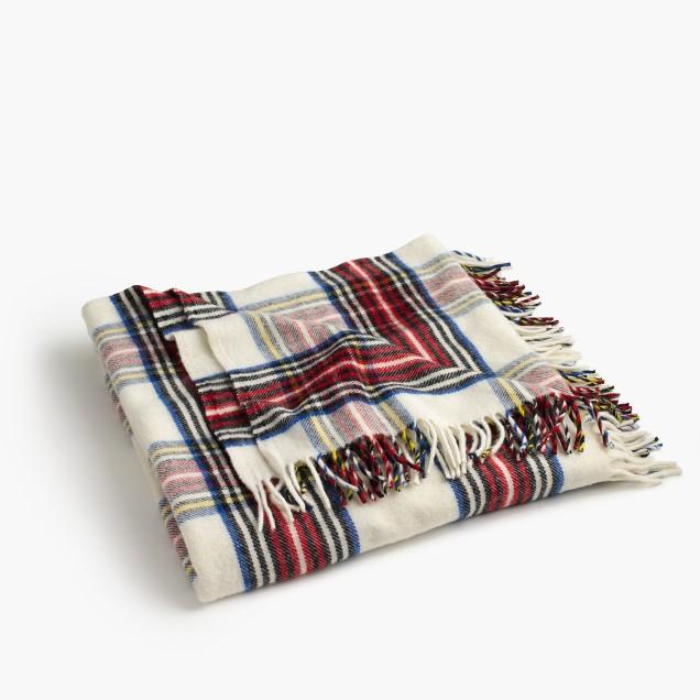 Faribault™ wool blanket in Stewart plaid