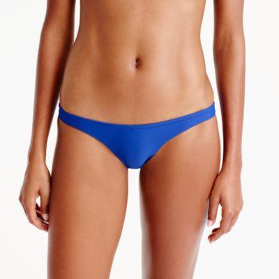 Ruched low-rider bikini bottom
