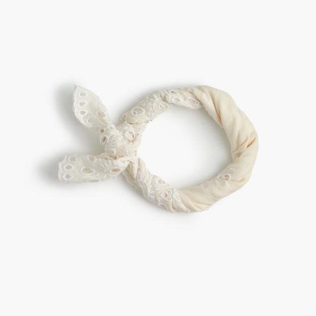 Floral eyelet bandana