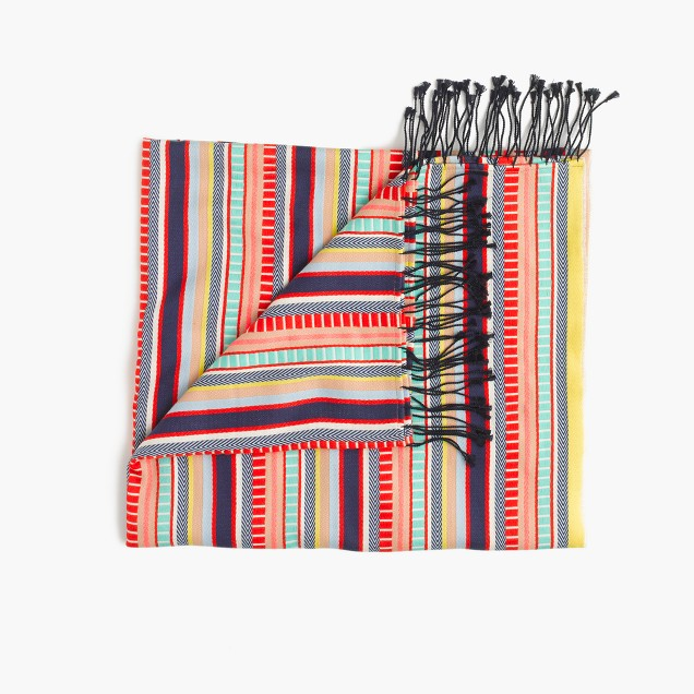 Vibrant striped beach blanket