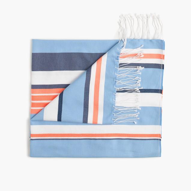 Striped beach blanket