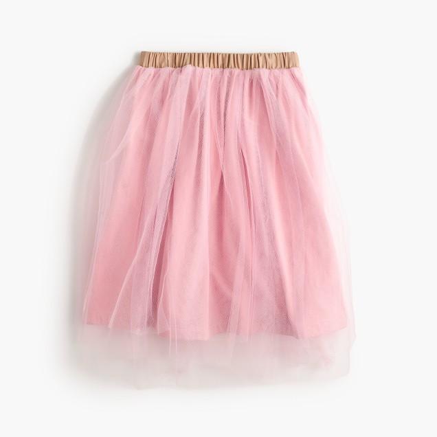 Girls' tulle ballet skirt