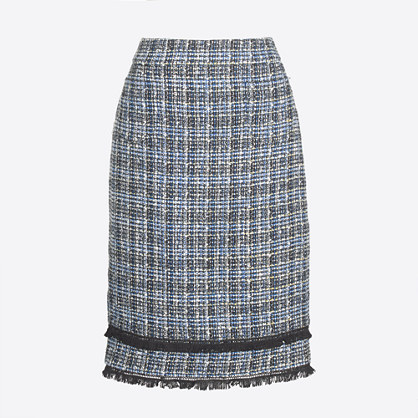 Tweed pencil skirt with pockets