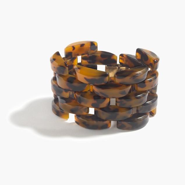 Hinge Lucite bracelet