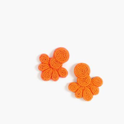 Beaded flutter earrings