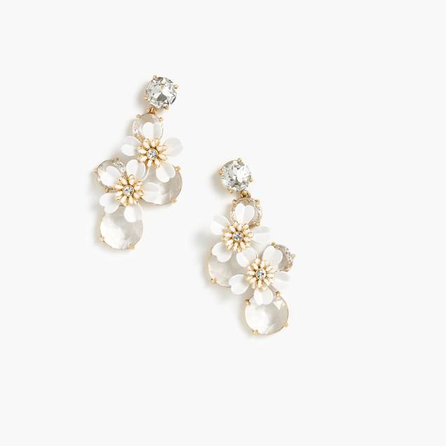 Lily crystal earrings