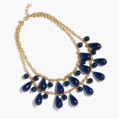 Tear drop chain necklace