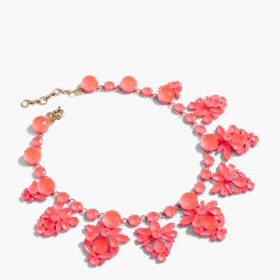 Fan crystal necklace