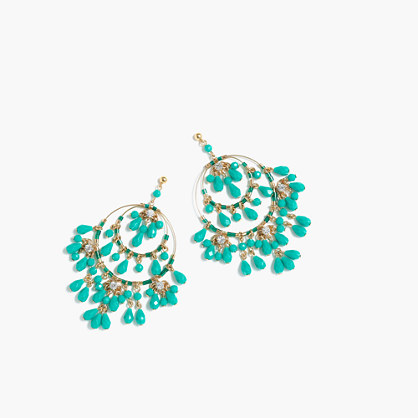 Tiered beaded drop earrings