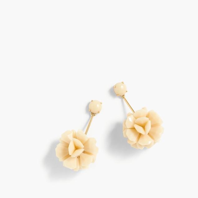 Lucite petal drop earrings