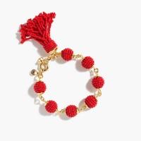 Beaded tassel orb bracelet