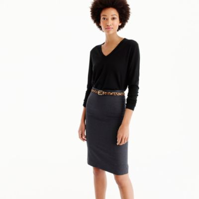 Pencil skirt in Italian Super 120s wool