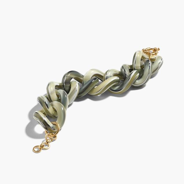 Chunky Lucite link bracelet