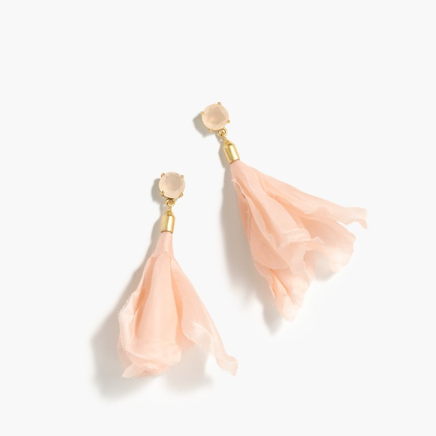 Soft petal-drop earrings