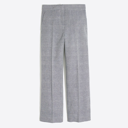 Plaid wide-leg pant