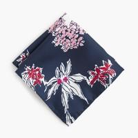 Italian silk pocket square in flower print