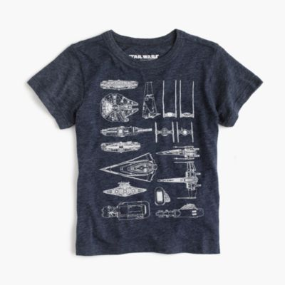 Kids' Star Wars for crewcuts The Force Awakens spaceships T-shirt