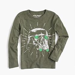 Kids' Star Wars for crewcuts Death Trooper helmet T-shirt