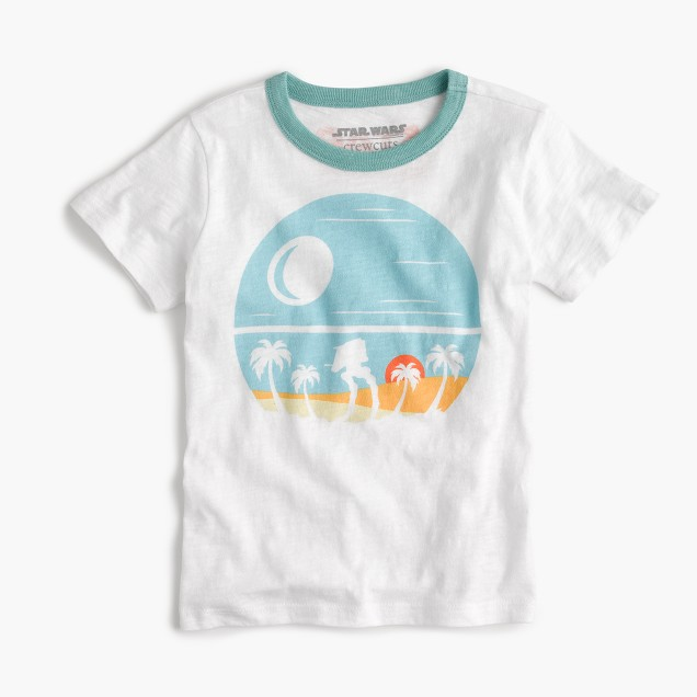Kids' Star Wars for crewcuts beach planet T-shirt