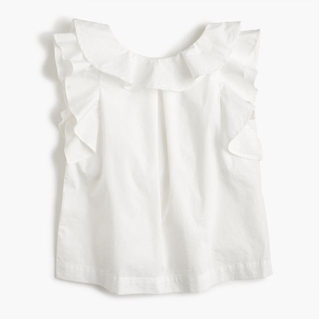 Girls' ruffle top in solid