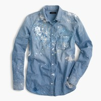 Limited-edition always chambray shirt in paint splatter