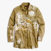 Limited-edition fatigue shirt in paint splatter